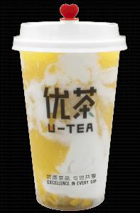 Mango yogurt front + cap - transparent