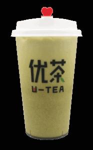 Matcha milk tea - transparent
