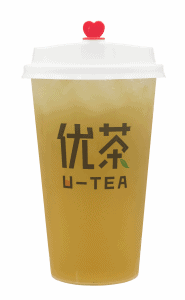 Peach oolong tea - transparent
