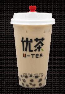 Pearl milk cup transparent