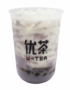 Taro fresh milk - tilt transparent