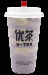 Taro milk tea - transparent